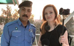 IntoVR-VJ Christiane Wittenbecher beim 360°-Videodreh in Irak.