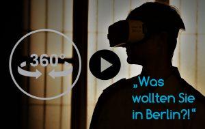 Das Stasi-Gefängnis Berlin Hohenschönhausen im 360°-Film von IntoVR. Zuschauer mit VR-Brille sind selbst im Mittelpunkt des Geschehens und werden von Schauspielern in Stasi-Uniformen und mit original Requisiten wie politisch Gefangene der DDR-Diktatur behandelt