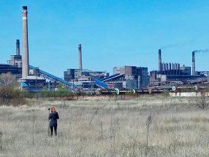 Das Koks-Werk ist das größte der Ukraine.