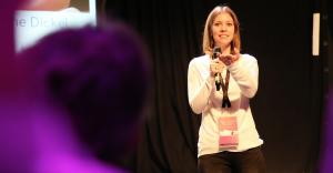 Susanne Dickel als Speakerin über VR Journalismus