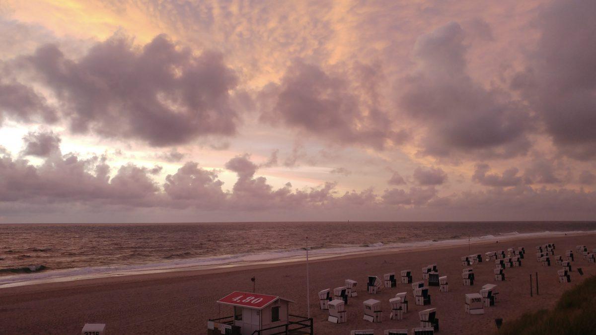 Sonnenuntergang auf Sylt. #nofilter