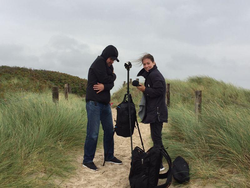 Das Wetter hat Stephan und mir den Dreh nicht leicht gemacht. Foto: Ilka Grote