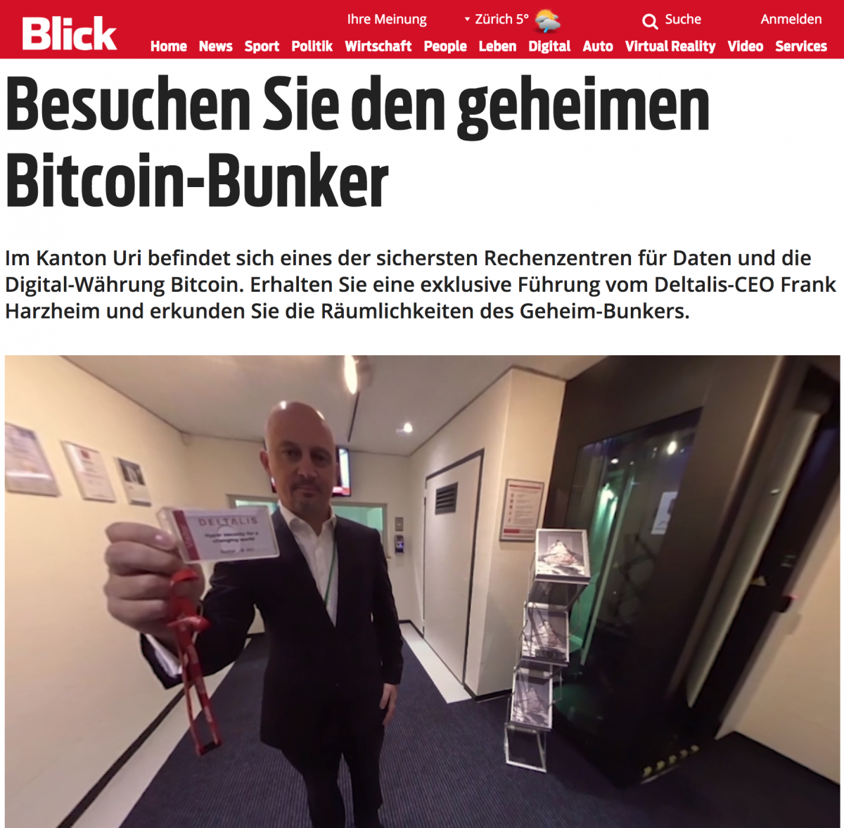 """""""Ihr Ausweis"""": Bunker-Chef Harzheim im 360°-Video."""