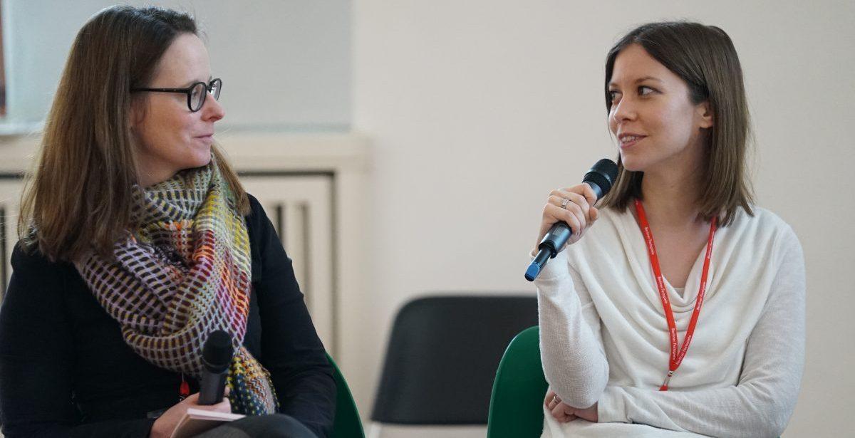 Moderiert wurde das englischsprachige Panel von Annina Zwettler, Programmkoordinatorin Neue Medien bei ARTE.