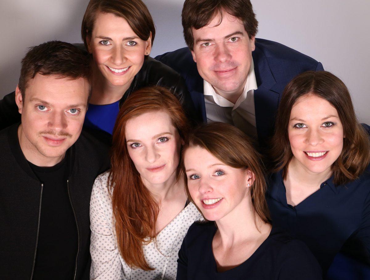 Team IntoVR v.l.n.r.: Leon Krenz, Angela Kea, Christiane Wittenbecher, Maria Menzel, Martin Heller und Susanne Dickel.