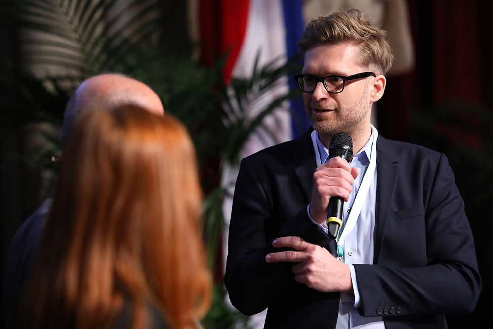 Ringier-Videochef Sebastian Pfotenhauer beim European Newspaper Congress (Foto ©: European Newspaper Congress)