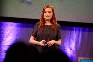 Christiane Wittenbecher als Speaker in Österreich bei einem Medienkongress