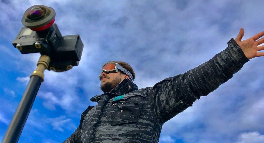 Sturmjäger Bastian Werner bei den Dreharbeiten für das 360°-Video. (Foto: Christiane Wittenbecher, IntoVR)