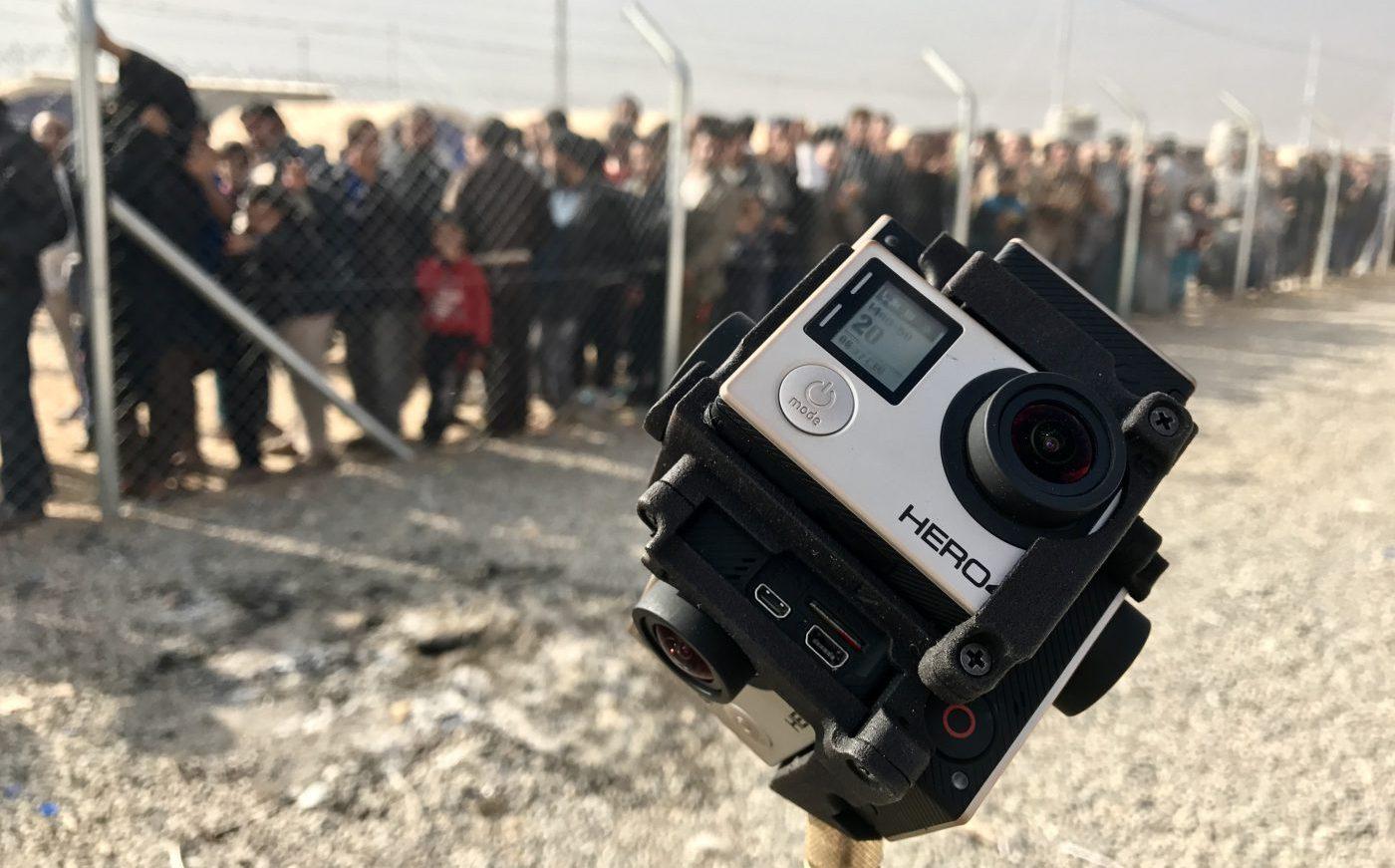 Freedom360-Kameramount aus sechs Gopro-Kameras.