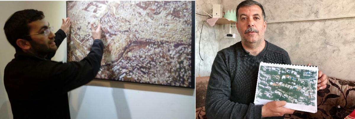 Der jüdische Siedler Yair Dan (links im Bild) und der Palästinenser Zohir Rajabi (rechts im Bild) reklamieren dasselbe Grundstück für sich.