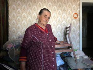 Im Haus kann Olena Zaitseve nicht mehr wohnen.Im Haus kann Olena Zaitseve nicht mehr wohnen.