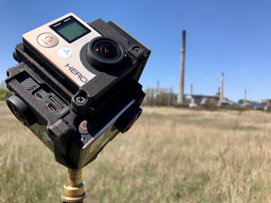 Für die Aufnahmen vor und auf dem Gelände war zumeist das Freedom360-Gopro-Mount im Einsatz
