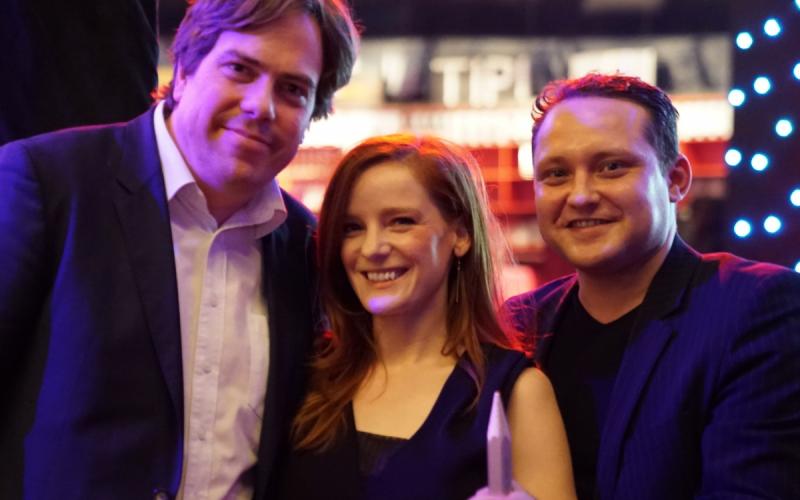 Die Preisträger v.l.n.r.: Martin Heller, Christiane Wittenbecher und Michael Ginsburg mit dem Award