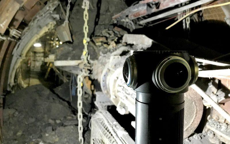 ZCam S1 Pro beim Einsatz unter Tage im Bergwerk Prosper-Haniel