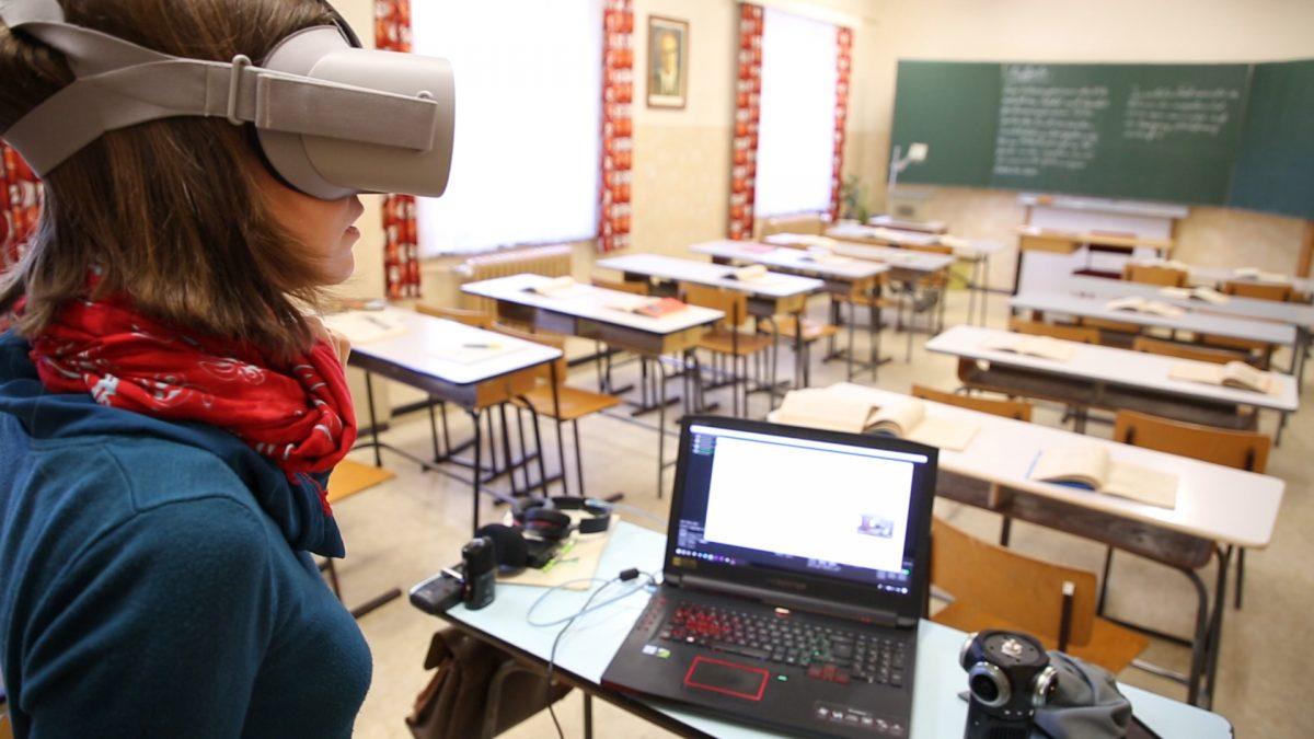 Behind the Scenes: Gedreht wurde in diesem Klassenzimmer im Schulmuseum Leipzig.