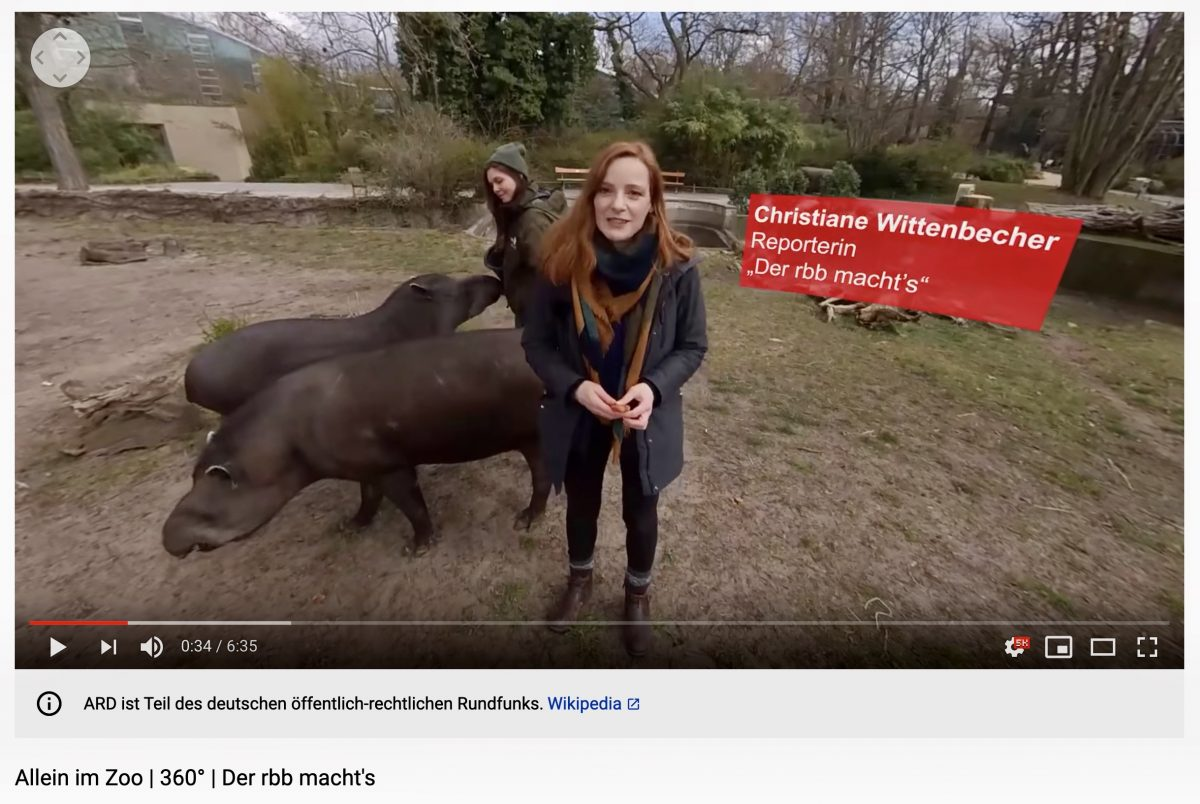 Link zum 360°-Video im Youtube-Kanal des rbb. Mobil: in der App von Youtube öffnen.