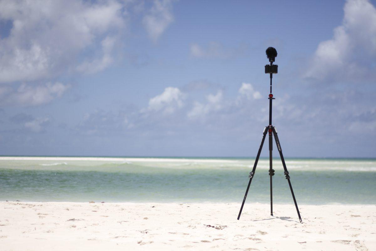 Dreh mit der 360°-kamera Kandao Obsidian S am Strand von Kuba