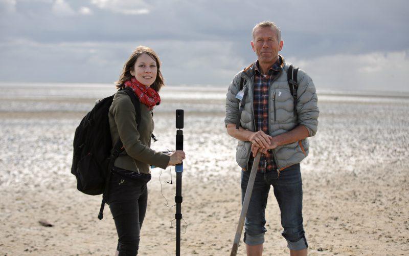 Into VR & Video Autorin Susanne Höb beim 360°-Dreh auf Sylt