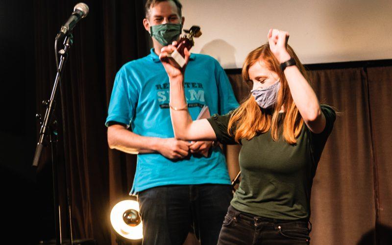 Christiane Wittenbecher von Into VR & Video gewinnt Reporterslam