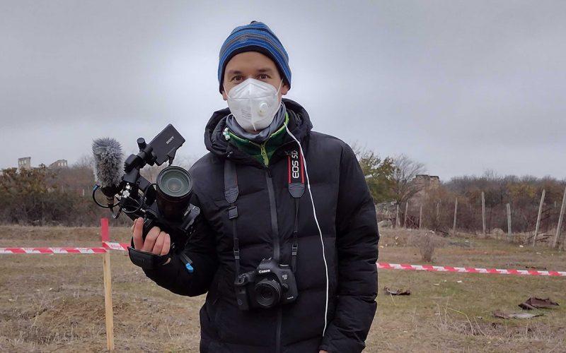 Clemens Hirmke mit Maske