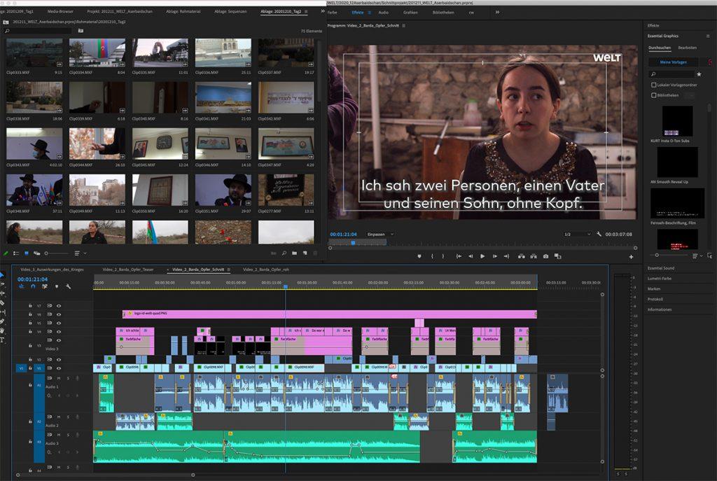 Videoschnitt mit Premiere Pro